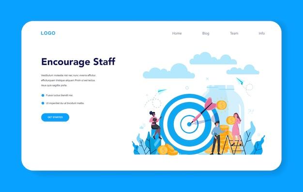 Supervisor manager web banner or landing page. specialist