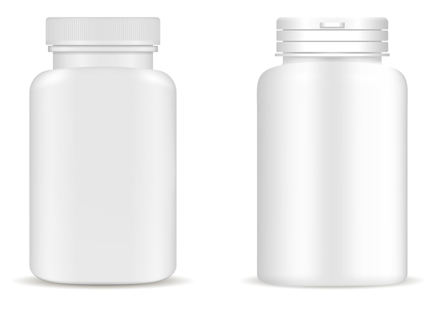 Supplement bottle pill bottle  medicine jar