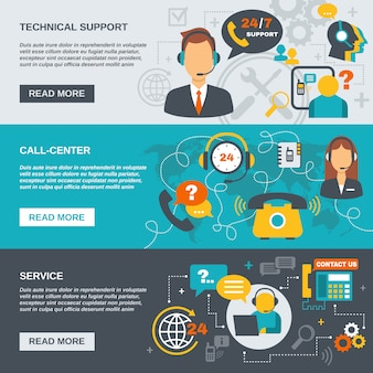 Support call center banner