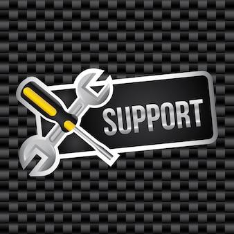 Support design over grid background vector illustration