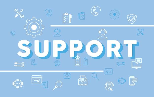 Поддержка надписей и значков