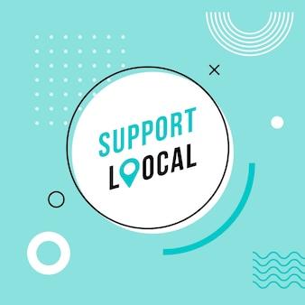 Поддержите местный бизнес абстрактный баннер