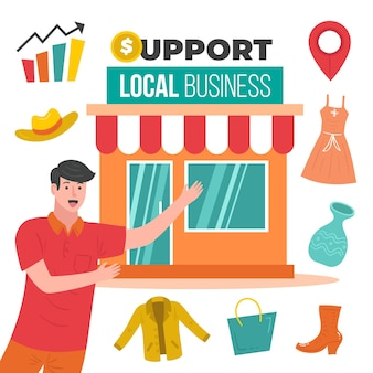 Support local business concept