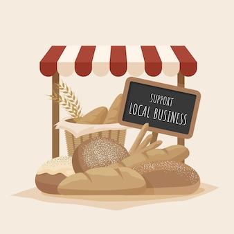 Поддержка концепции местного бизнеса