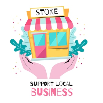 Support local business illustration