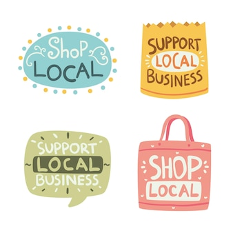 Support local business lettering collection