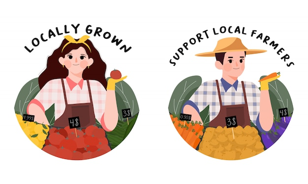 Support local farmers concept.