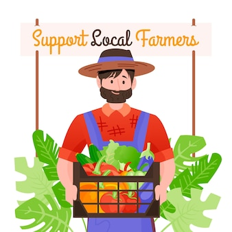 Support local farmers concept