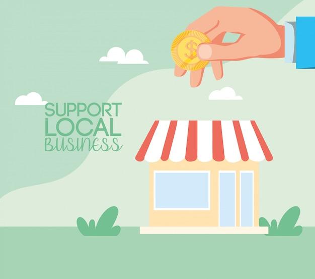 市内の地元企業の支援