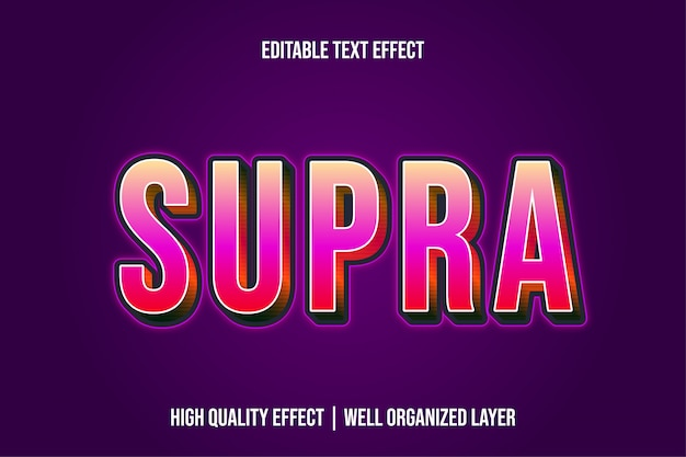 スープラ編集可能なモダンなテキスト効果フォントスタイル