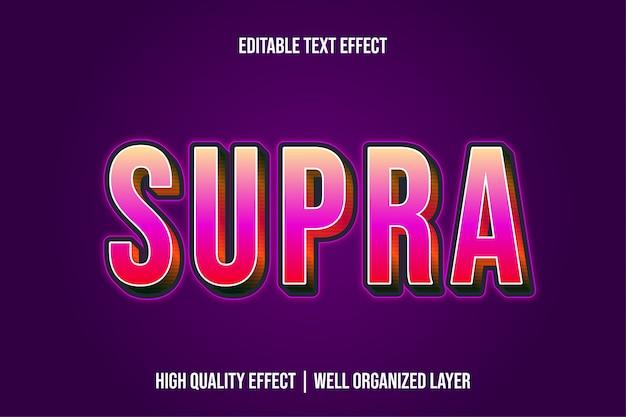Supra редактируемые современные текстовые эффекты шрифтов