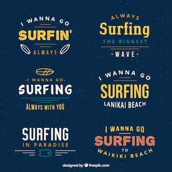 Surf badges pack