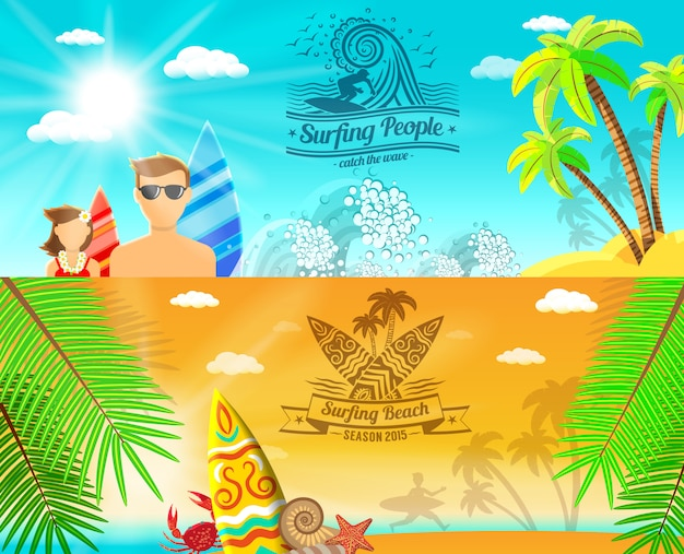 Surf banner horizontal