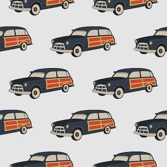 サーフカーのシームレスパターン。