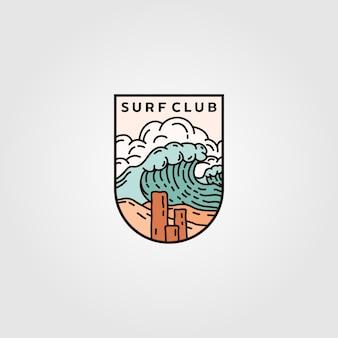 서핑 클럽 엠블럼 로고 디자인