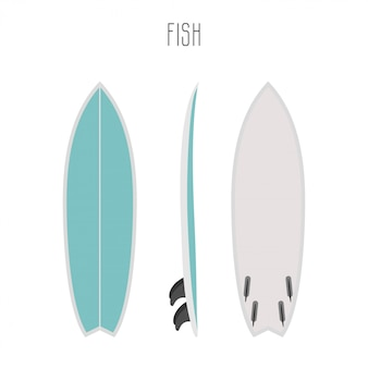 Surf fish board with three sides