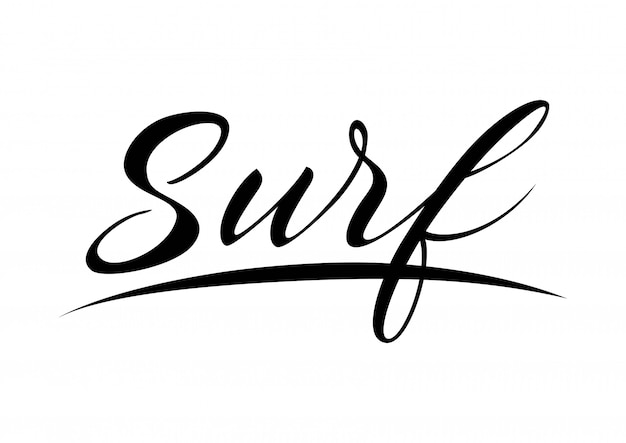 Surf lettering with underlining