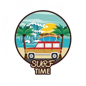 Surf time cartoon
