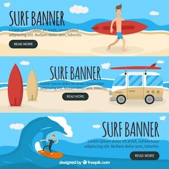 Коллекция баннеров surf