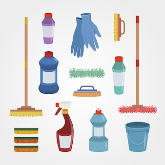 Surface cleaning products set