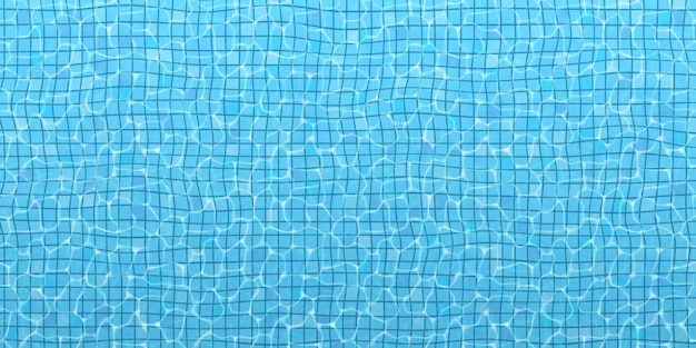 The surface of the water in the pool.