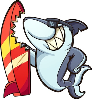 Surfboard shark