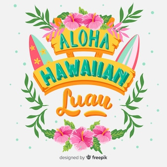 Surfboards luau background