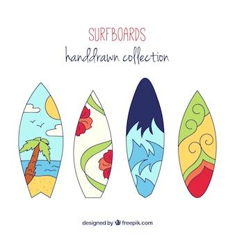 Ручной обращается surfboards комплект