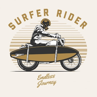 Surfer motorcycle rider