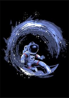 宇宙でのサーフィン