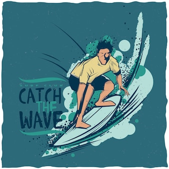 서핑 라벨 디자인