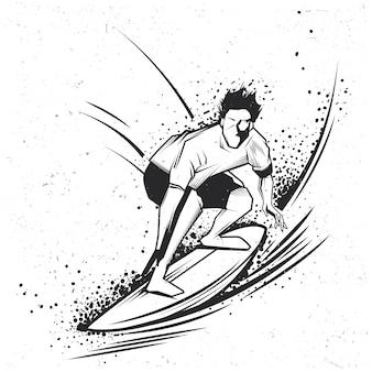 サーフィンラベルのデザイン