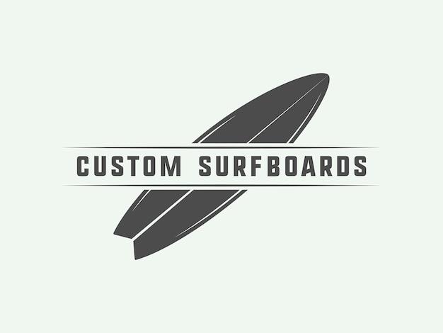 Surfing logo, emblem