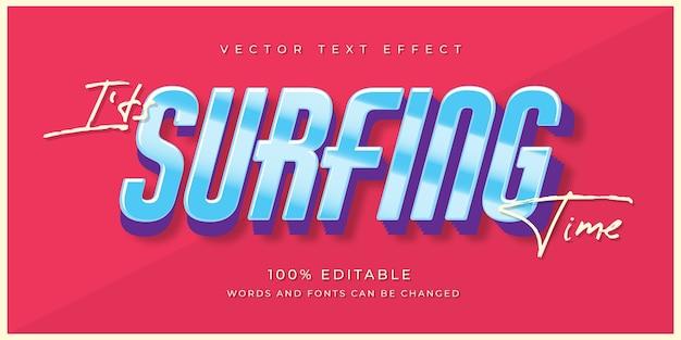 Текстовый эффект серфинга