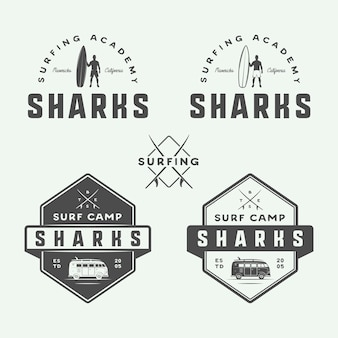 Surfing and travel logos