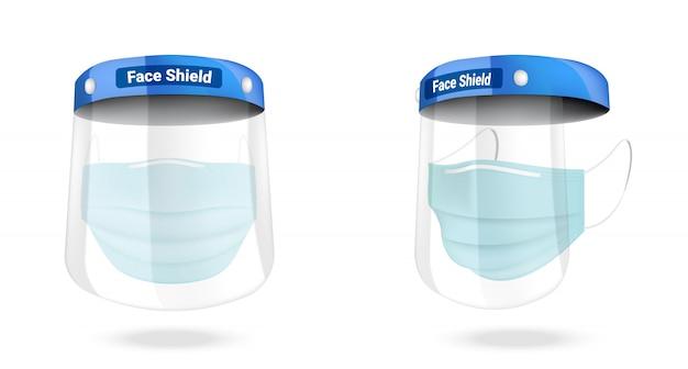 Хирургическая маска для лица и защита от вирусов изолированы. безопасность дыхания, здравоохранения и медицинской концепции дизайна.