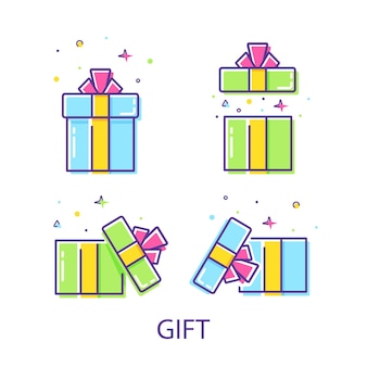 놀라운 선물 세트 선물 아이디어 conceptgift box