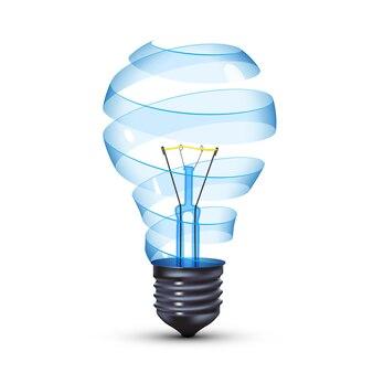 Сюрреалистическая спиральная стеклянная вольфрамовая лампа