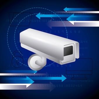 Технология безопасности папок компьютерной камеры наблюдения