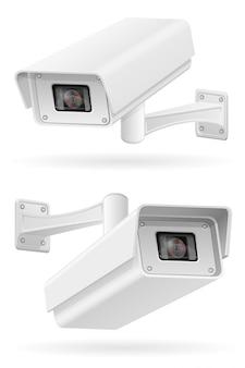 Surveillance cameras vector illustration