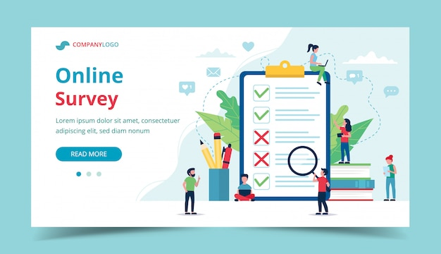 Survey online of customer satisfaction.