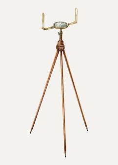 Вектор иллюстрации компаса геодезиста, ремикс из иллюстрации арчи томпсона
