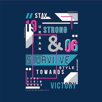 Выжить текст стильная футболка типография