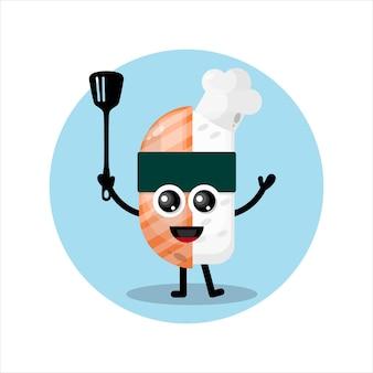 Sushi chef mascot