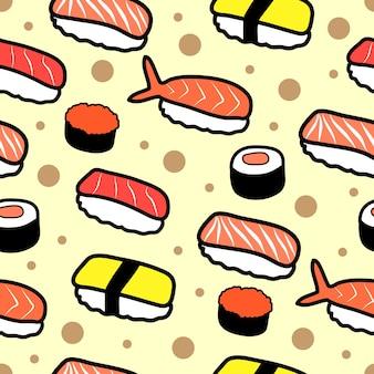 Бесшовный узор из суши