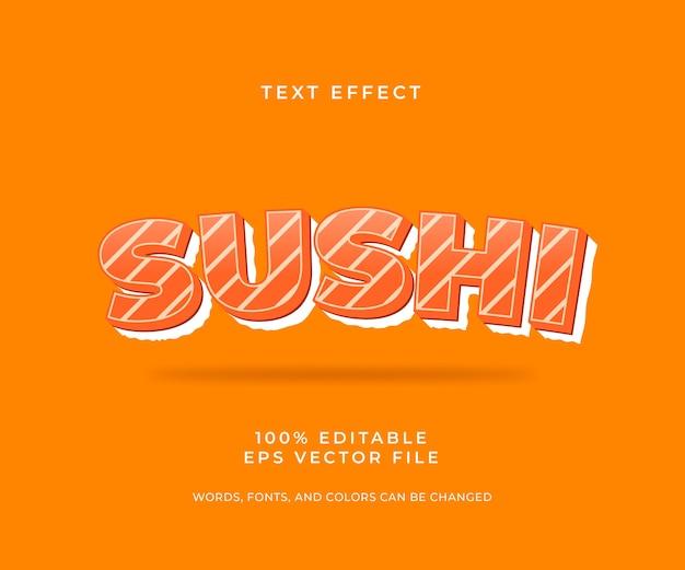 Суши редактируемый текстовый эффект