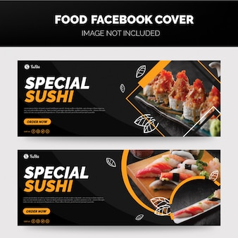 Sushi facbook cover template