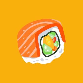 Sushi illustration flat minimalist