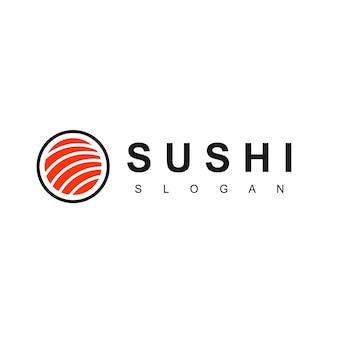 Суши логотип символ азиатской кухни