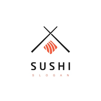 Sushi logo asian food symbol
